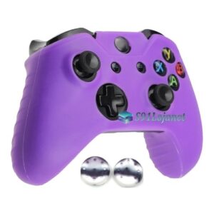 Capa Case Skin Xbox One S Microsoft Roxo + Grip Camo