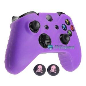 Capa Case Skin Xbox One S Microsoft Roxo + Grip Skull