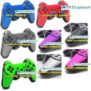 Adesivo Skin Decal Vinil Controle Ps3 Playstation 3 Carbono