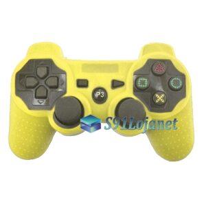 Capa Case Controle Playstation PS3 Original Protetora Amarela