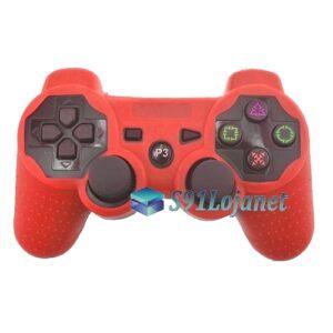 Capa Case Controle Playstation PS3 Original Protetora Vermelha