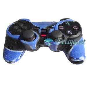 Capa Case Controle Playstation Ps2 Camo Azul