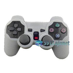 Capa Case Controle Playstation Ps2 Original Protetora Branco
