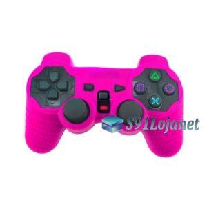 Capa Case Controle Playstation Ps2 Original Protetora Rosa