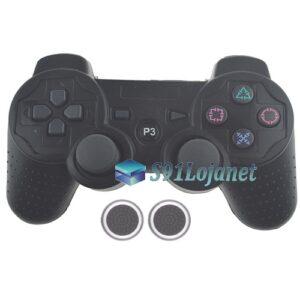 Capa Case Playstation PS3 Preta + Grip Bolinha
