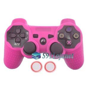 Capa Case Playstation PS3 Rosa + Grip Bolinha