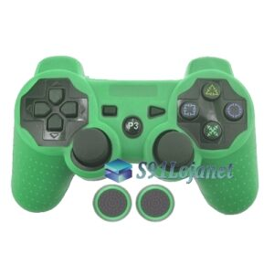 Capa Case Playstation PS3 Verde + Grip Bolinha