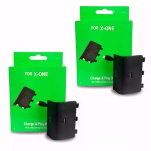 Kit 2 Bateria  Cabo Carregador Controle Xbox One Charge Play