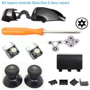 Kit Reparo Controle Xbox One 5 Itens Analógico T8 Rb/lb