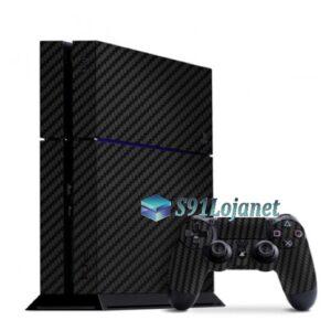 Skin Ps4 Fat Playstation 4 Original Carbono Preto