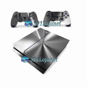 Skin Ps4 Fat Playstation 4 Original Metalico Prata