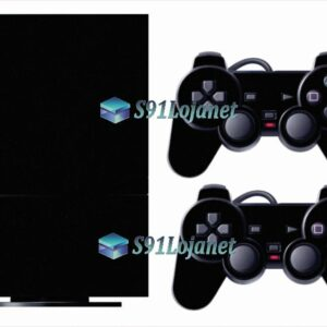Skin Ps2 Playstation 2 Original Adesivo Super Brilho Preto