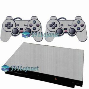 Skin Ps2 Slim Playstation 2 Adesivo Metalico Aluminio