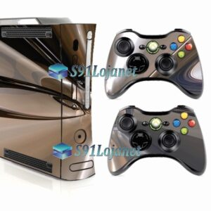 Xbox 360 Fat Skin Adesivo Metálico Cromado