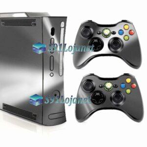 Xbox 360 Fat Skin Adesivo Metálico Prata