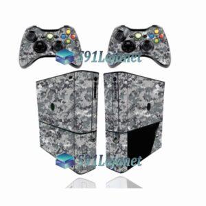 Xbox 360 Super Slim Skin Adesivo Camuflado Cinza Digi