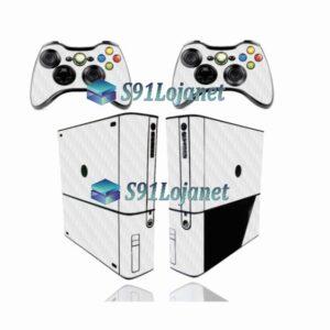Xbox 360 Super Slim Skin Adesivo Carbono Cinza