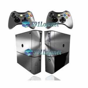 Xbox 360 Super Slim Skin Metálico Prata