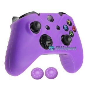 Capa Case Skin Xbox One X Microsoft Roxo + Grip Cor
