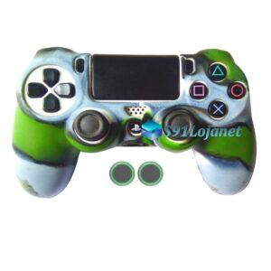 Capa Case Playstation 4 PS4 Camo Verde Cinza + Grip B