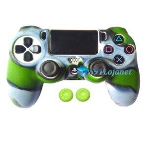 Capa Case Playstation 4 PS4 Camo Verde Cinza + Grip Cor