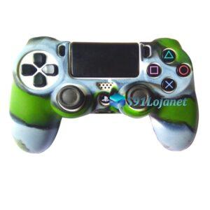 Capa Case Playstation 4 PS4 Camuflado Verde Cinza
