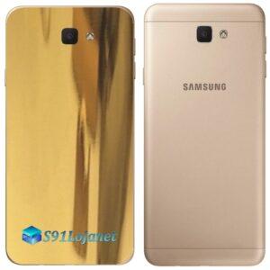 Galaxy J5 Prime Adesivo Skin Traseiro Metal Ouro Gold Cromo