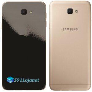 Galaxy J7 Prime Adesivo Skin Traseiro Preto Black Piano