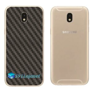 Galaxy J7 Pro Adesivo Skin Traseiro Carbono Preto