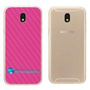 Galaxy J7 Pro Adesivo Skin Traseiro Carbono Rosa