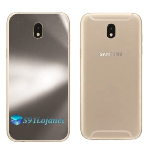 Galaxy J7 Pro Adesivo Skin Traseiro Metal Titãnio