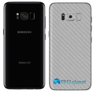 Galaxy S8 Adesivo Skin Carbono Cinza