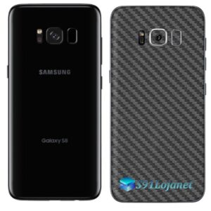 Galaxy S8 Adesivo Skin Carbono Preto