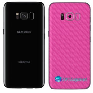 Galaxy S8 Adesivo Skin Carbono Rosa Pink