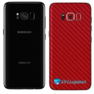 Galaxy S8 Adesivo Skin Carbono Vermelho