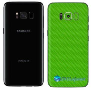 Galaxy S8 Plus Adesivo Skin Carbono Verde