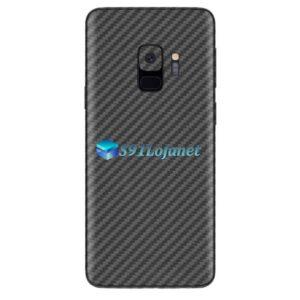 Galaxy S9 Adesivo Skin Carbono Preto