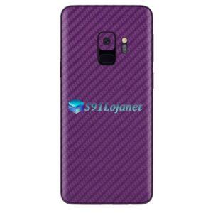 Galaxy S9 Adesivo Skin Carbono Roxo