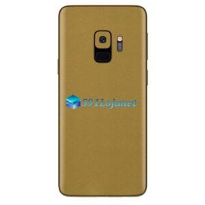 Galaxy S9 Adesivo Skin Metal Ouro