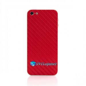 Iphone 5 5c 5s Skin Adesivo Sticker Carbono Vermelho