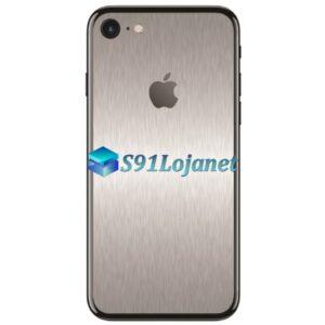 Iphone 7 7plus Skin Adesivo Sticker Metal Prata