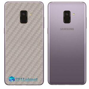 Samsung Galaxy A8 Adesivo Skin Carbono Cinza