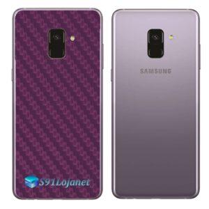 Samsung Galaxy A8 Adesivo Skin Carbono Cinza Roxo