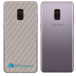 Samsung Galaxy A8 Plus Adesivo Skin Carbono Cinza
