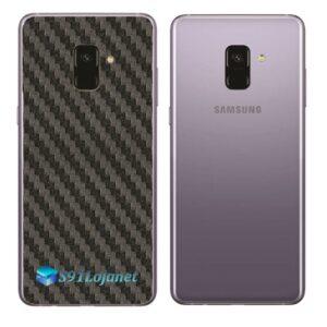 Samsung Galaxy A8 Plus Adesivo Skin Carbono Preto