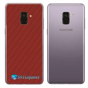 Samsung Galaxy A8 Plus Adesivo Skin Carbono Vermelho
