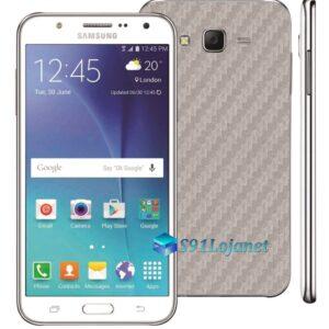 Samsung Galaxy J7 Adesivo Skin Carbono Cinza