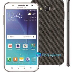 Samsung Galaxy J7 Adesivo Skin Carbono Preto