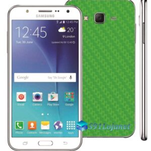 Samsung Galaxy J7 Adesivo Skin Carbono Verde