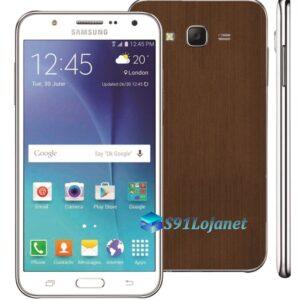 Samsung Galaxy J7 Adesivo Skin Metal Bronze